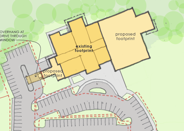 Proposed library footprint